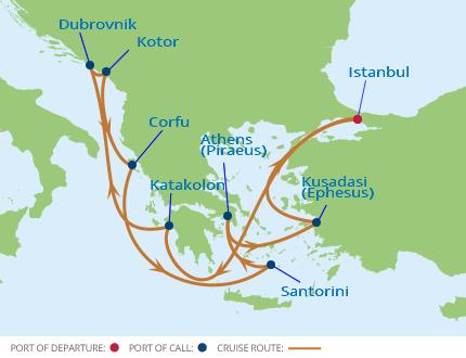 セレブリティ・コンステレーション イスタンブール発着エーゲ海・アドリア海クルーズ12泊13日