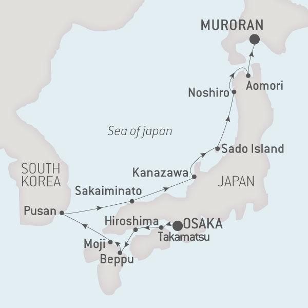 ポナン¥ロストラルで行く日本再発見クルーズは名古屋クルーズ・船旅専門旅行会社グラージュに見積もり・予算・費用は相談ください