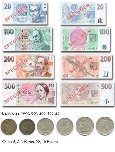 チェコへの通貨はチェココルナ
