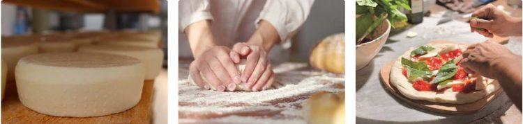 パン作り、ピザ作り、パスタ作り、チーズ作り、ワインテイスティング、ビールていすていぃんグなど各種体験プログラム