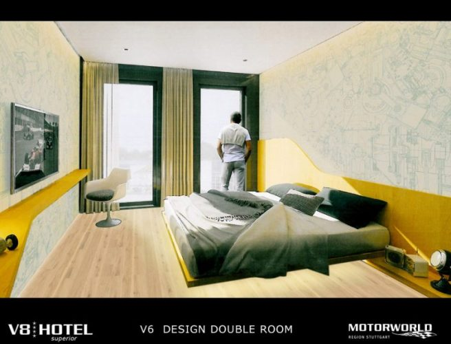 V6 - Design Double Rooms in the new V8 HOTEL V8 HOTEL,シュトゥットガルト,ポルシェ博物館,ベンツ博物館