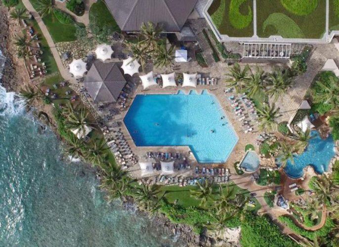 グラマラスヴォヤージュお勧め、世界の奇跡の 1 つタートル・ベイ・リゾートはプールが自慢| Turtle Bay Resortに泊まる旅、ノースショア旅行、オアフ旅行、ハワイ乗馬の旅の行き方,予算,費用は無料見積もりに自信の名古屋のオーダーメイド専門旅行会社グラージュへ