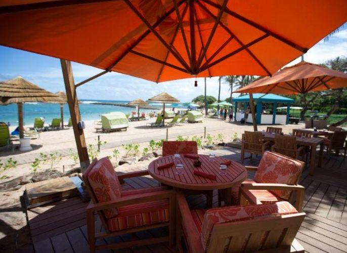 グラマラスヴォヤージュお勧め、世界の奇跡の 1 つタートル・ベイ・リゾートのビーチサイドで軽食| Turtle Bay Resortに泊まる旅、ノースショア旅行、オアフ旅行、ハワイ乗馬の旅の行き方,予算,費用は無料見積もりに自信の名古屋のオーダーメイド専門旅行会社グラージュへ