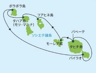 ボラボラ島 フアヒネ島 バイラオ タハア島 (モツ・マハナ) パペーテ モーレア島
