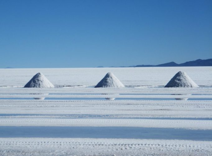 塩工場,お土産の天然塩,ウユニ絶景