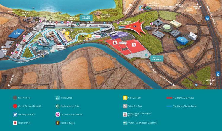 F1アブダビグランプリ見取図