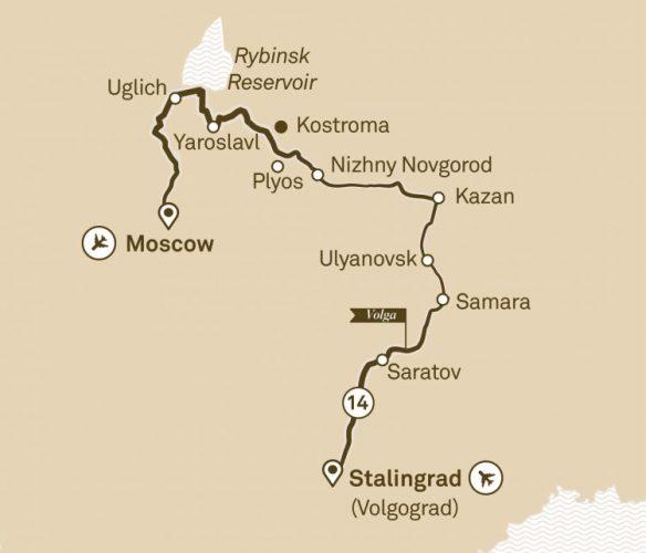 シーニッククルーズ ロシア帝国 (IRRV) スターリングラード(ヴォルゴグラード)~モスクワ/14泊15日