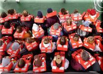 ワクワクどきどき船上避難訓練